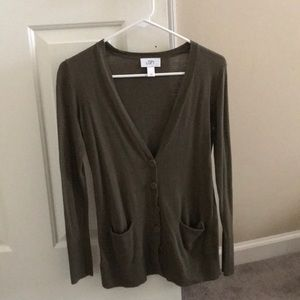 Loft army green cardigan